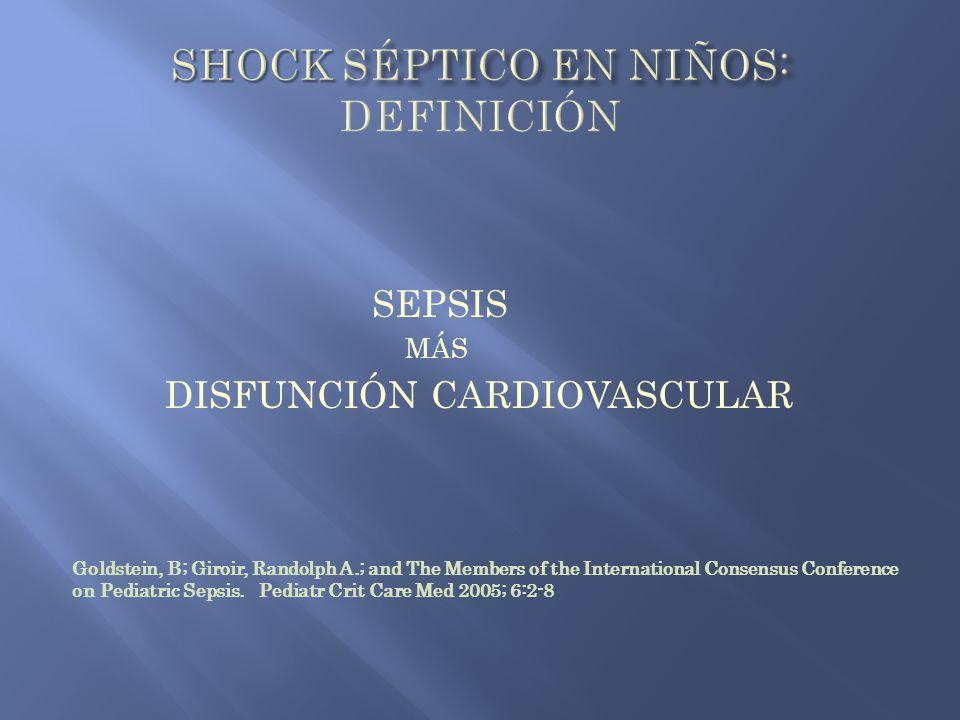 Shock séptico en niños: definición