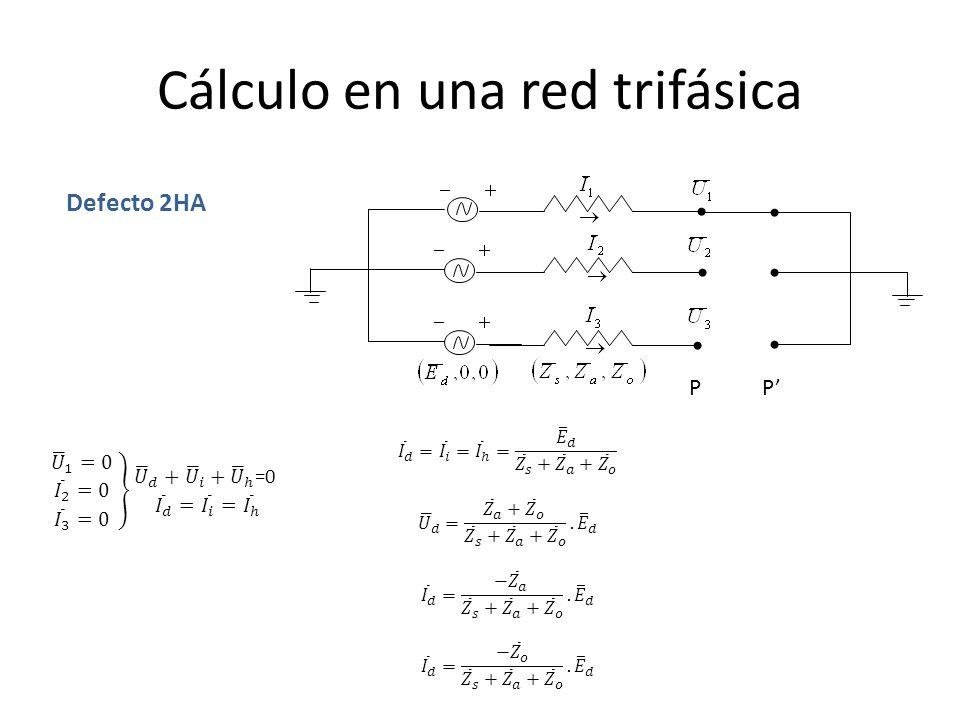Cálculo en una red trifásica