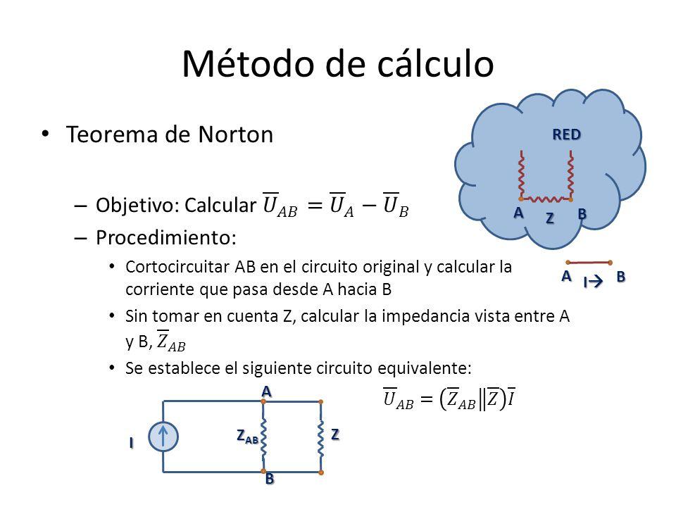 Método de cálculo Teorema de Norton
