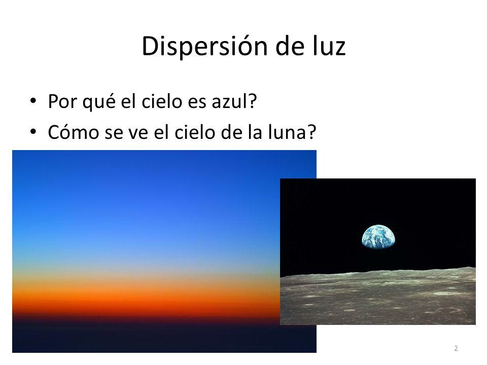 Dispersión de luz Por qué el cielo es azul