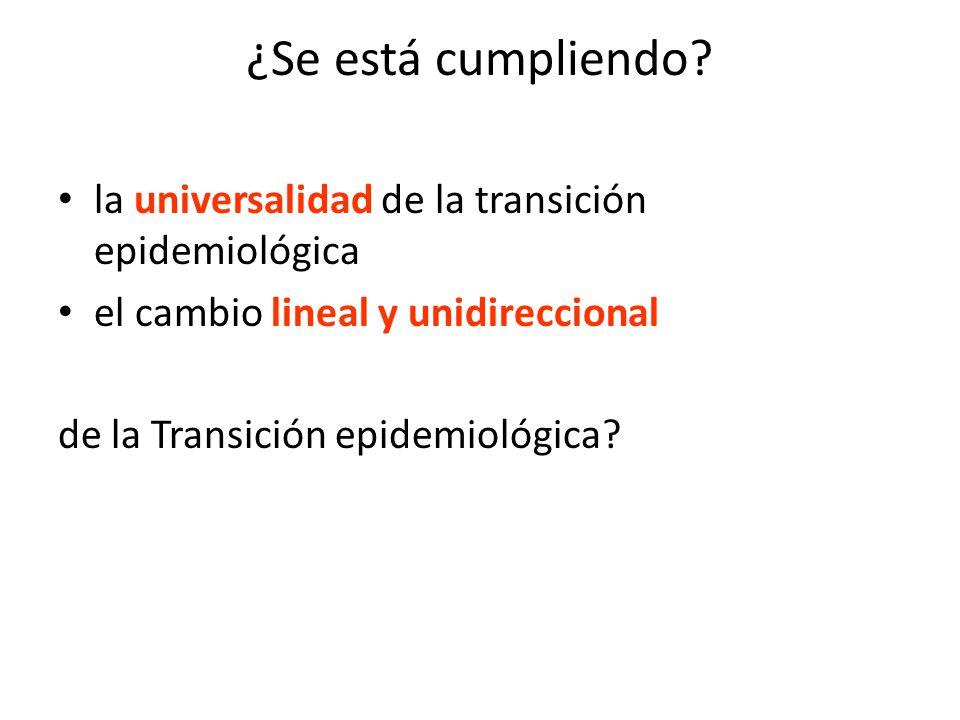 ¿Se está cumpliendo la universalidad de la transición epidemiológica