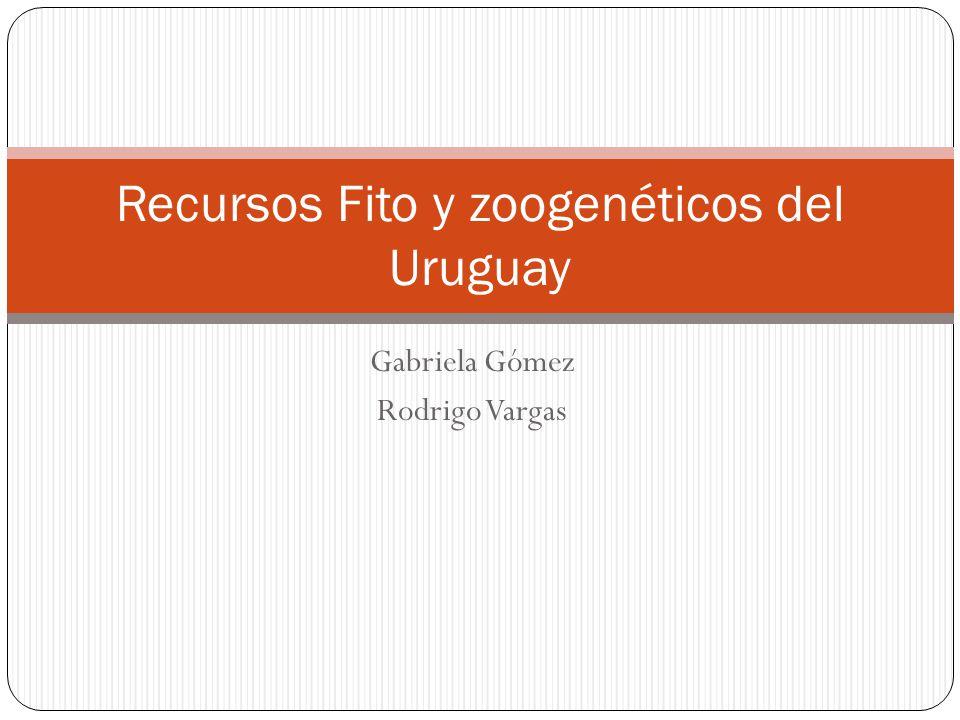 Recursos Fito y zoogenéticos del Uruguay