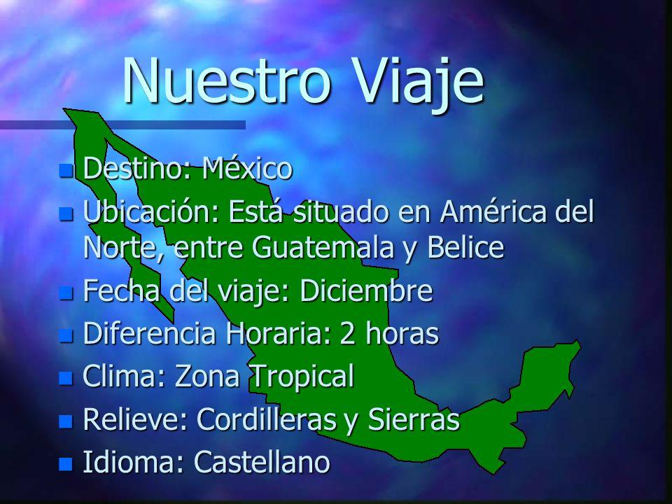 Nuestro Viaje Destino: México