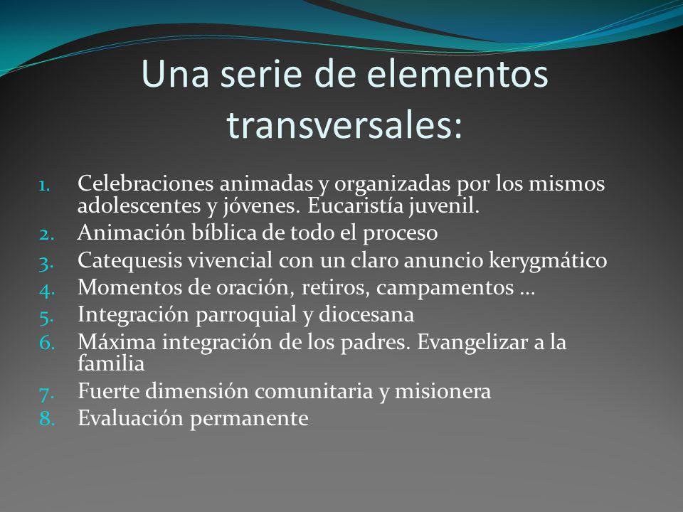 Una serie de elementos transversales: