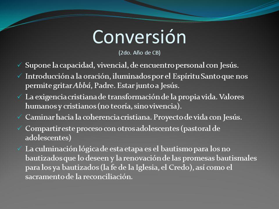 Conversión (2do. Año de CB)