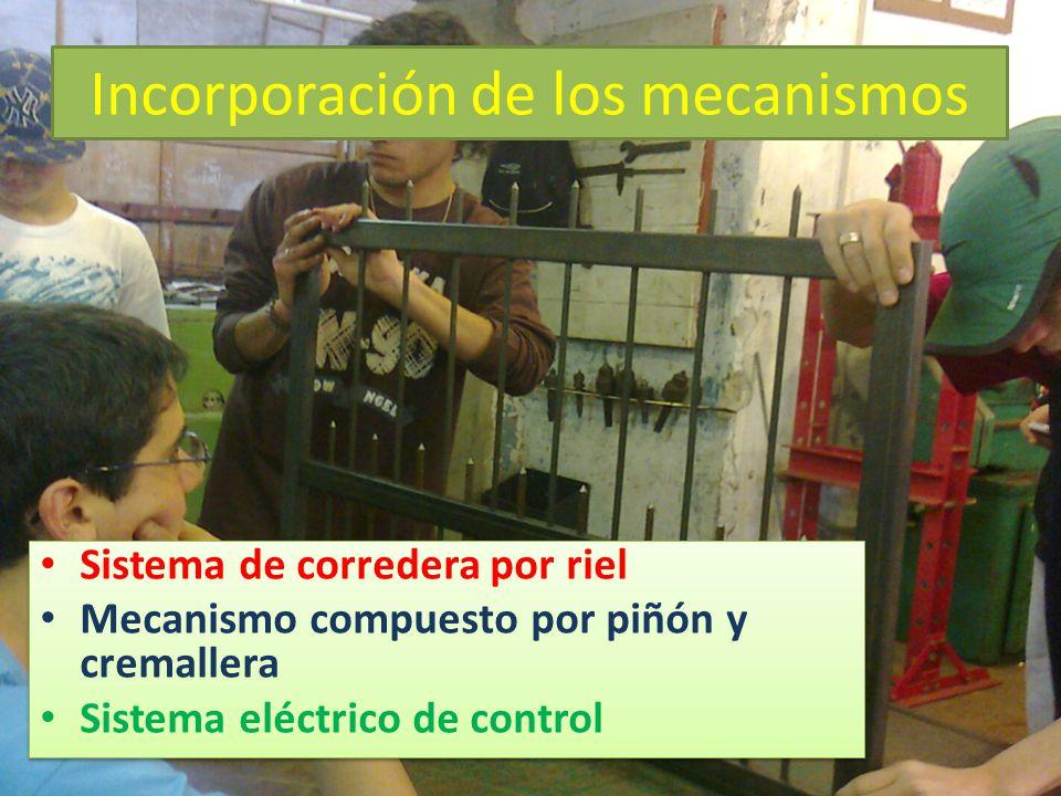 Incorporación de los mecanismos