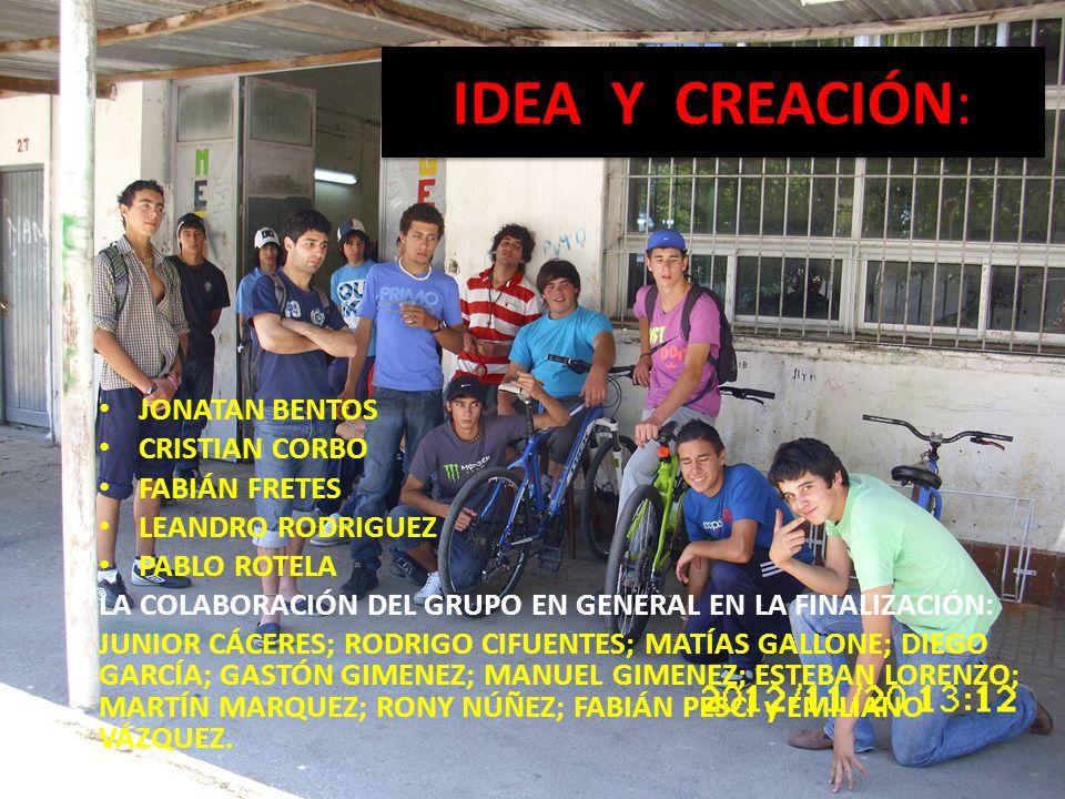 IDEA Y CREACIÓN: JONATAN BENTOS CRISTIAN CORBO FABIÁN FRETES
