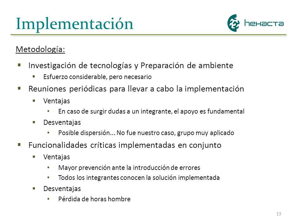 Implementación Metodología: