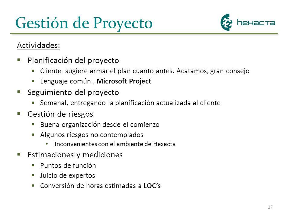 Gestión de Proyecto Actividades: Planificación del proyecto