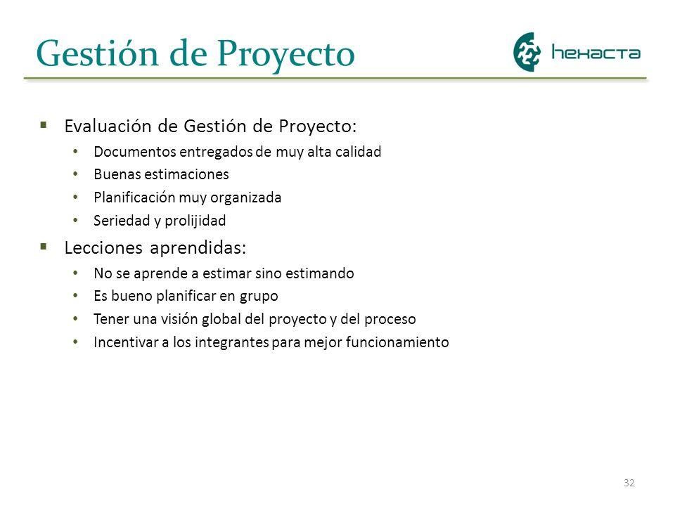 Gestión de Proyecto Evaluación de Gestión de Proyecto: