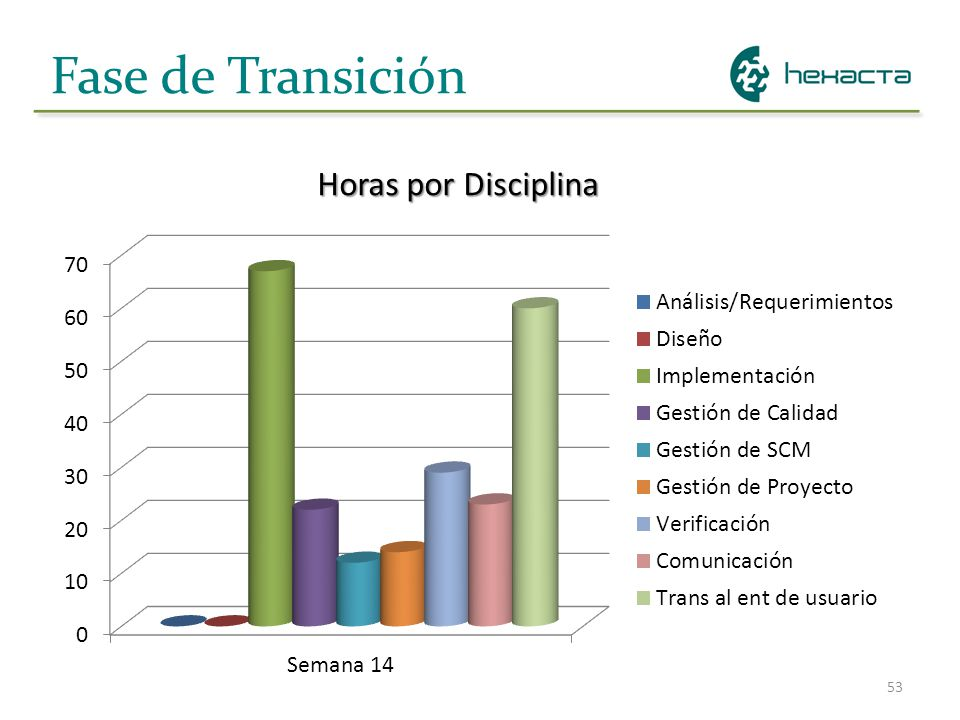 Fase de Transición Horas por Disciplina