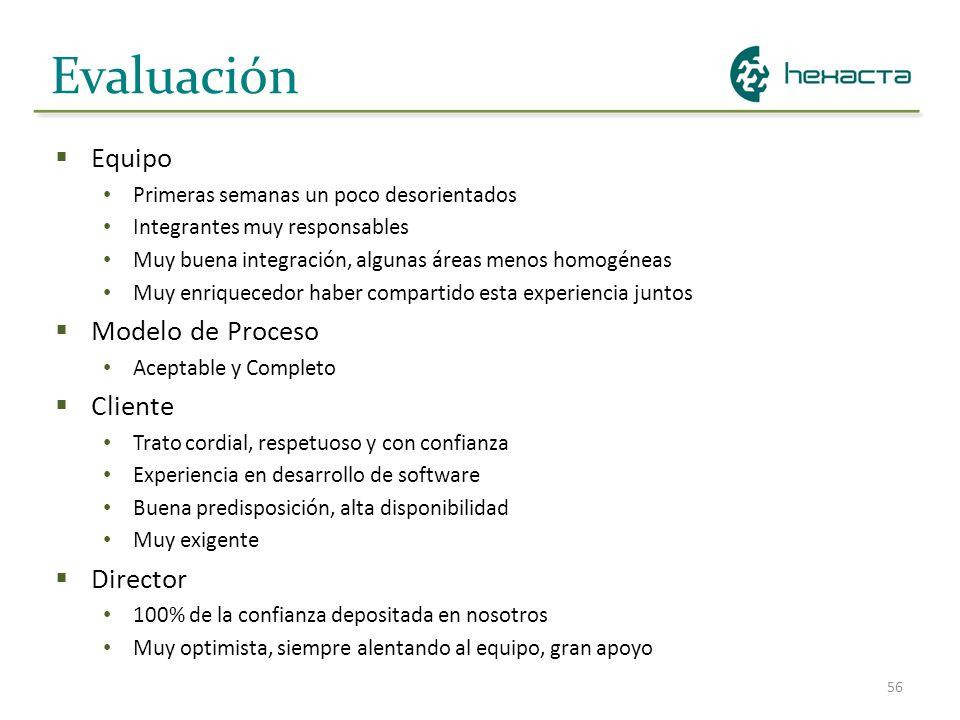 Evaluación Equipo Modelo de Proceso Cliente Director