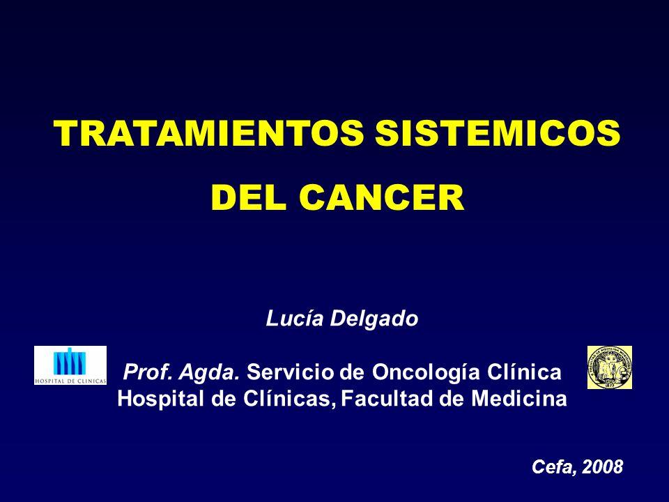 TRATAMIENTOS SISTEMICOS DEL CANCER