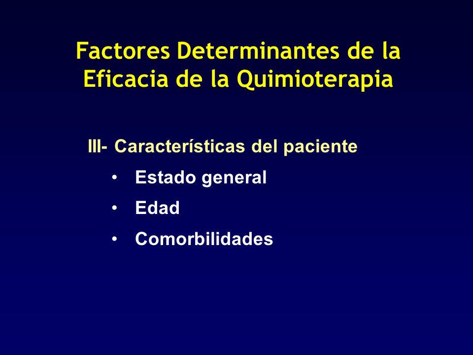 Factores Determinantes de la Eficacia de la Quimioterapia