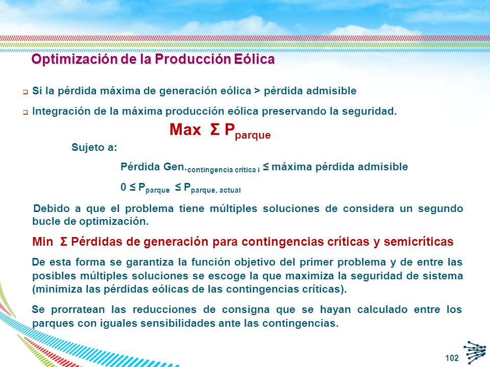 Optimización de la Producción Eólica