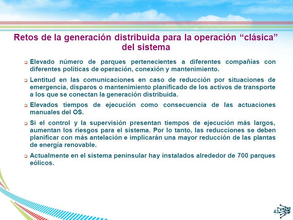 Retos de la generación distribuida para la operación clásica del sistema