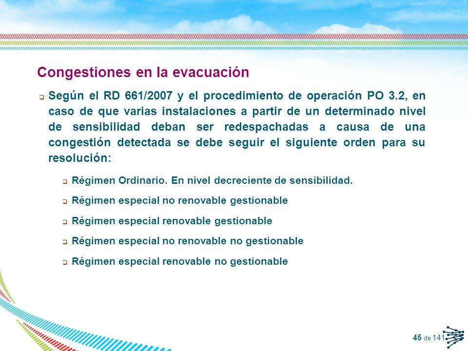 Congestiones en la evacuación