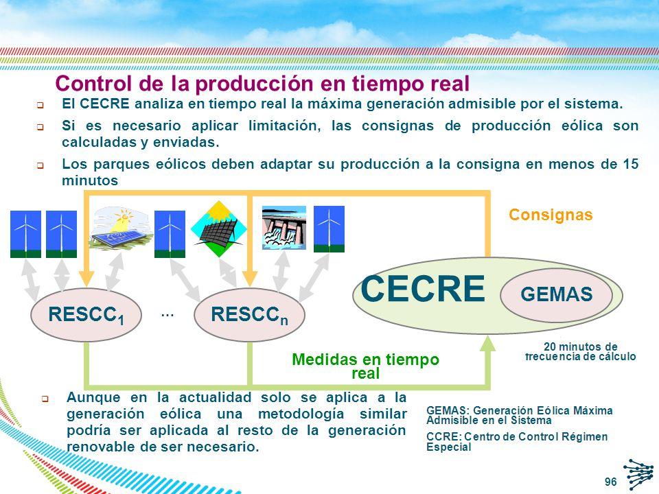 CECRE Control de la producción en tiempo real GEMAS … RESCC1 RESCCn