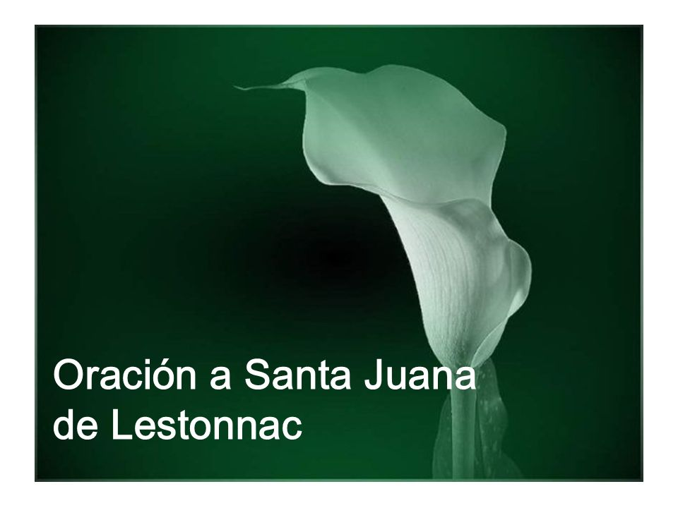 Oración a Santa Juana de Lestonnac