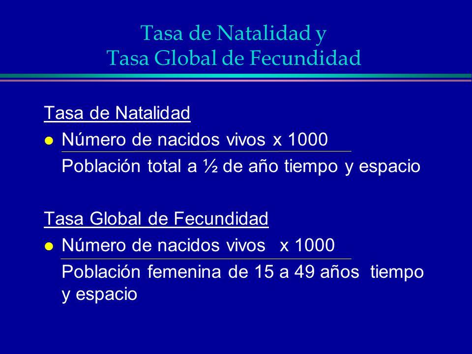 Tasa de Natalidad y Tasa Global de Fecundidad