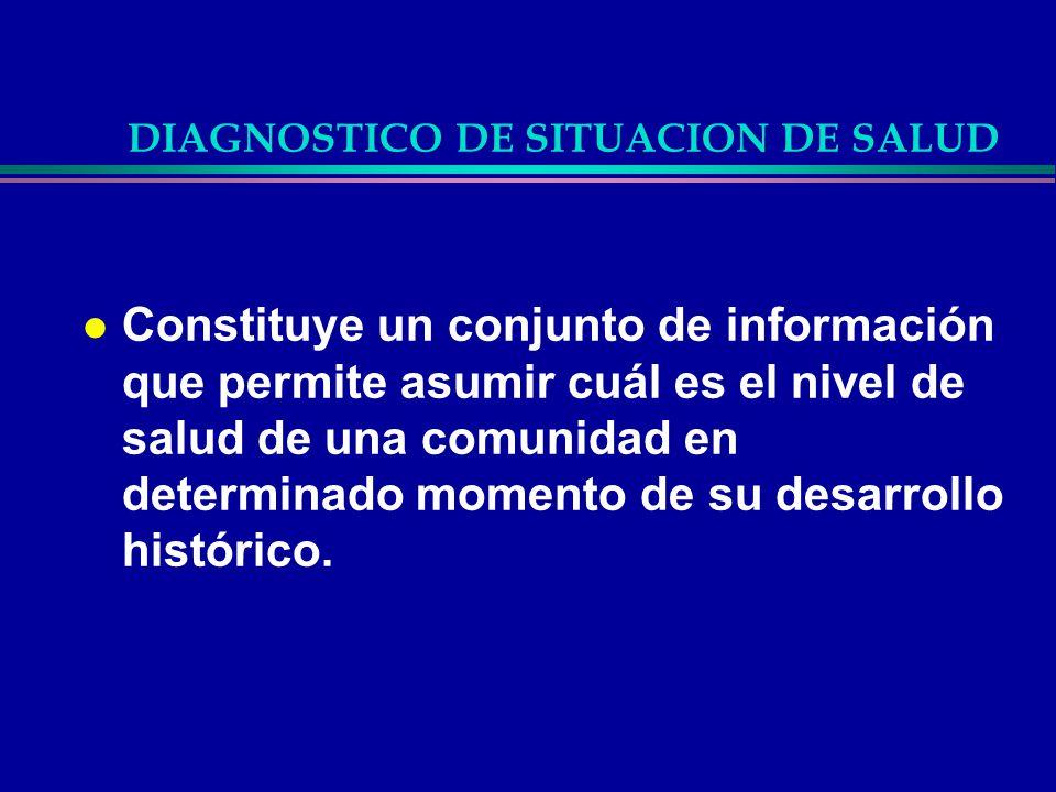 DIAGNOSTICO DE SITUACION DE SALUD