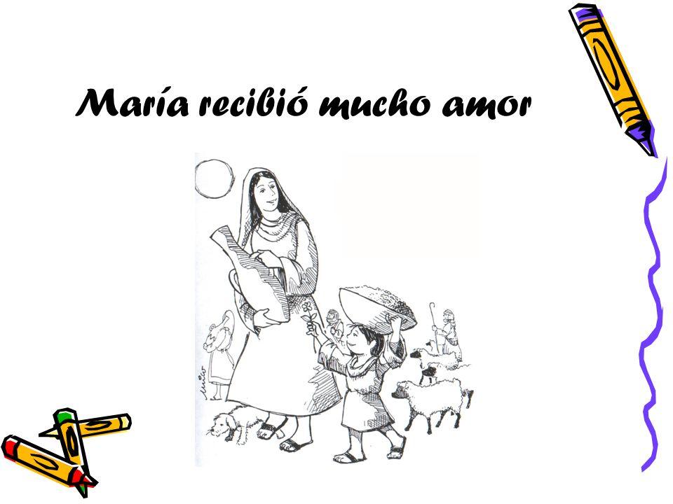 María recibió mucho amor