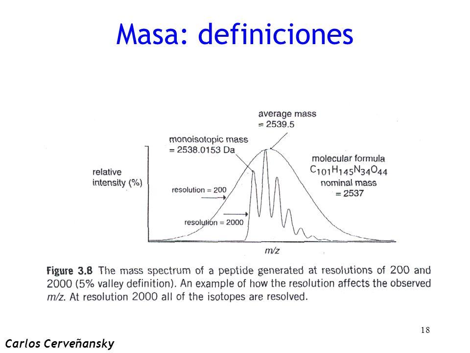 Masa: definiciones Carlos Cerveñansky