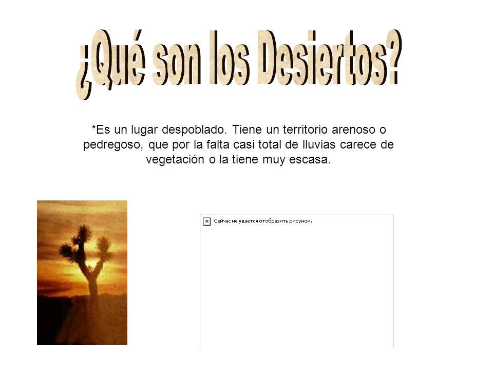 ¿Qué son los Desiertos