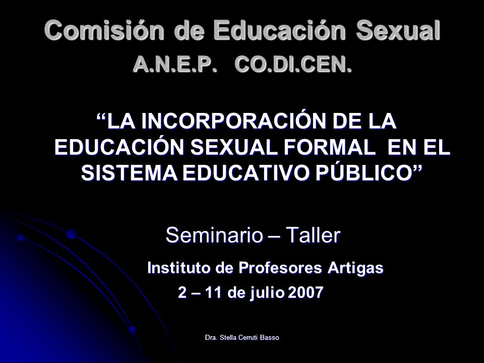 Comisión de Educación Sexual A.N.E.P. CO.DI.CEN.