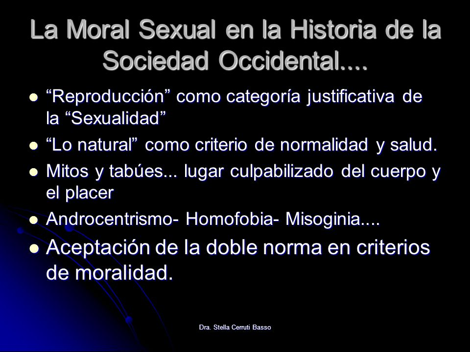 La Moral Sexual en la Historia de la Sociedad Occidental....