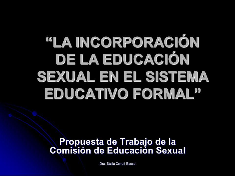 Propuesta de Trabajo de la Comisión de Educación Sexual
