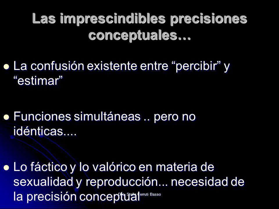 Las imprescindibles precisiones conceptuales…