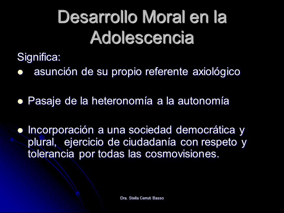 Desarrollo Moral en la Adolescencia