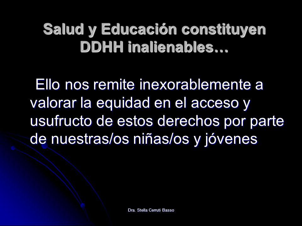 Salud y Educación constituyen DDHH inalienables…