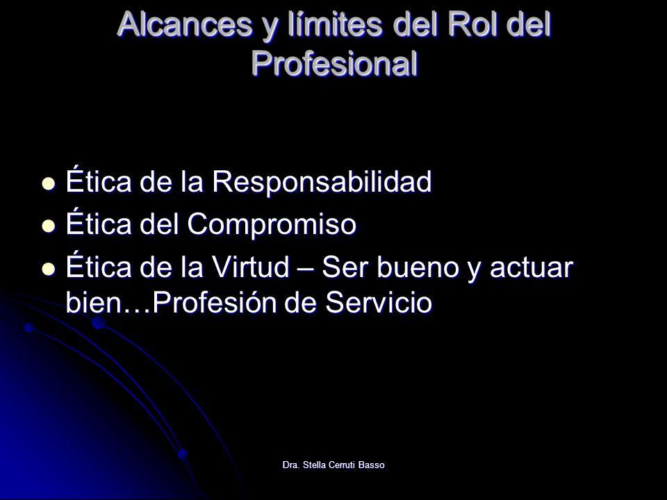 Alcances y límites del Rol del Profesional