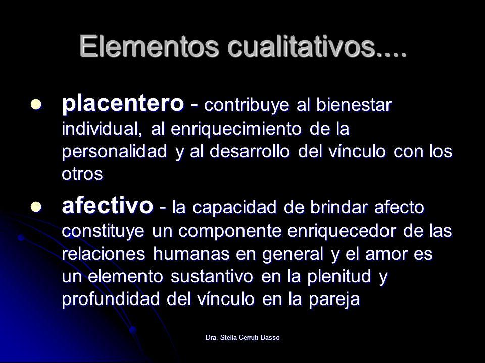 Elementos cualitativos....