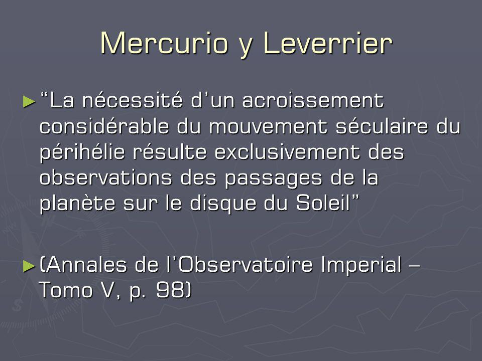 Mercurio y Leverrier
