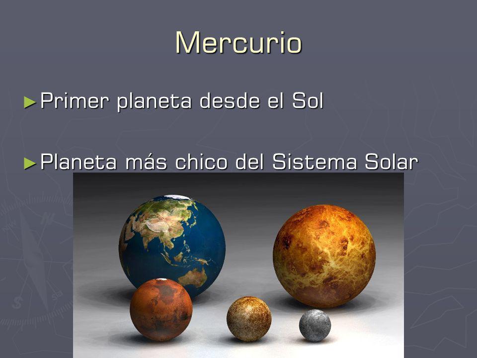 Mercurio Primer planeta desde el Sol