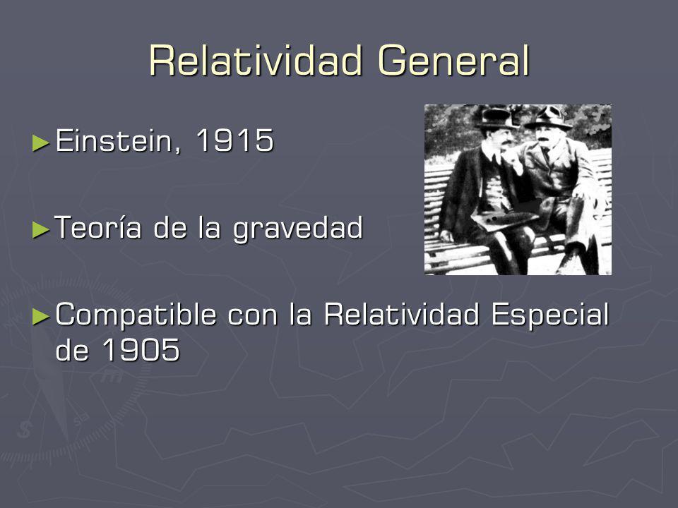Relatividad General Einstein, 1915 Teoría de la gravedad