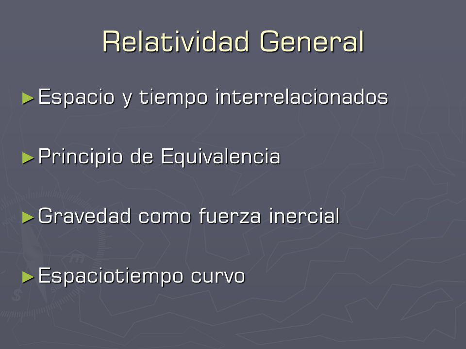 Relatividad General Espacio y tiempo interrelacionados