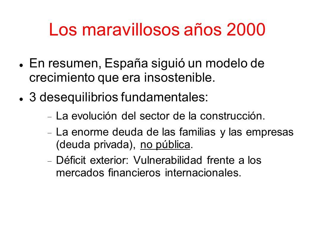 Los maravillosos años 2000En resumen, España siguió un modelo de crecimiento que era insostenible.