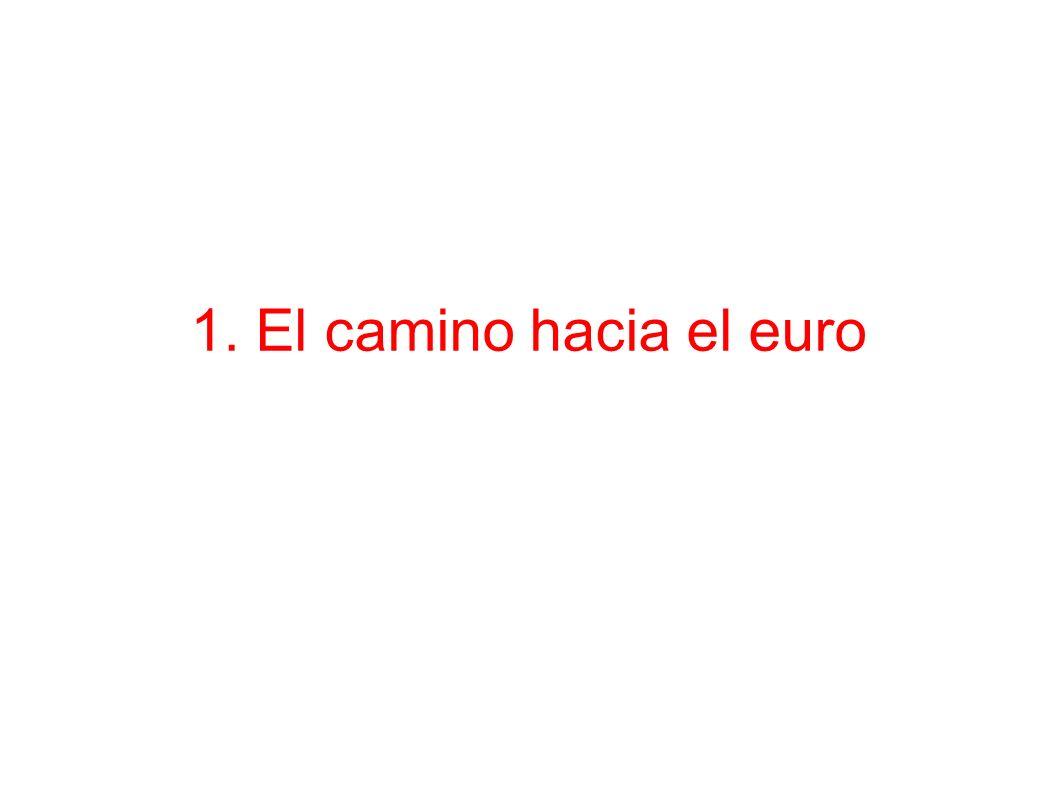 1. El camino hacia el euro