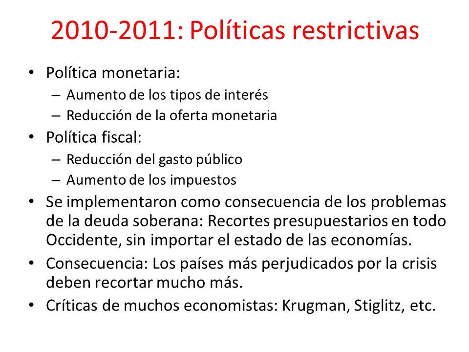2010-2011: Políticas restrictivas