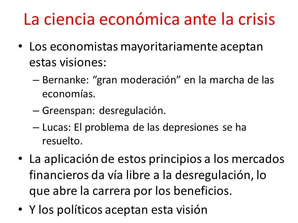 La ciencia económica ante la crisis