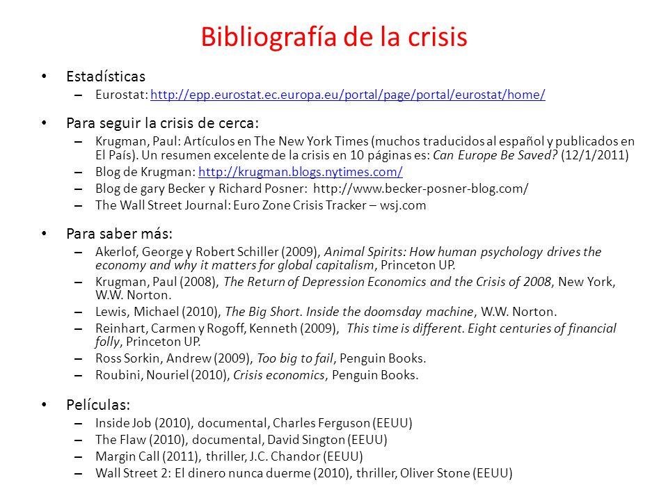 Bibliografía de la crisis
