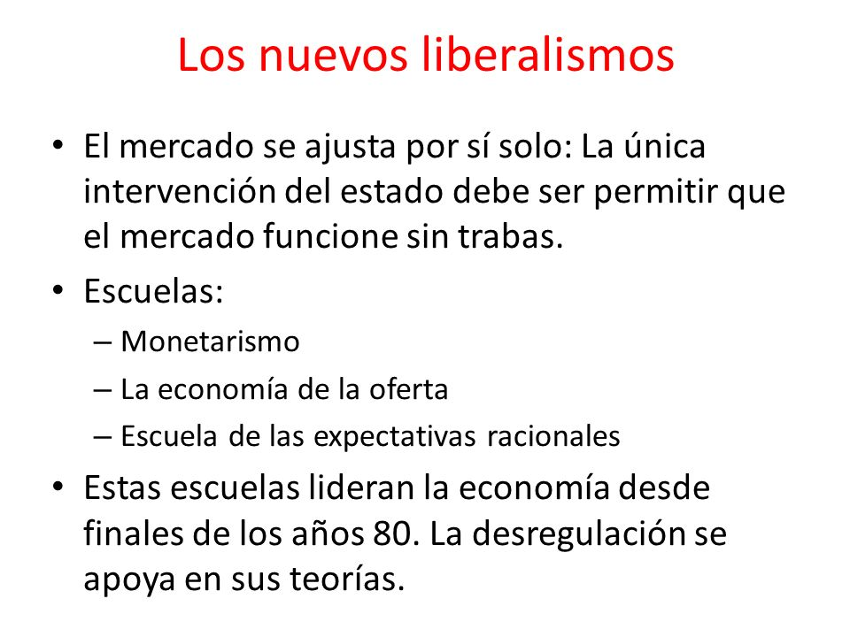 Los nuevos liberalismos