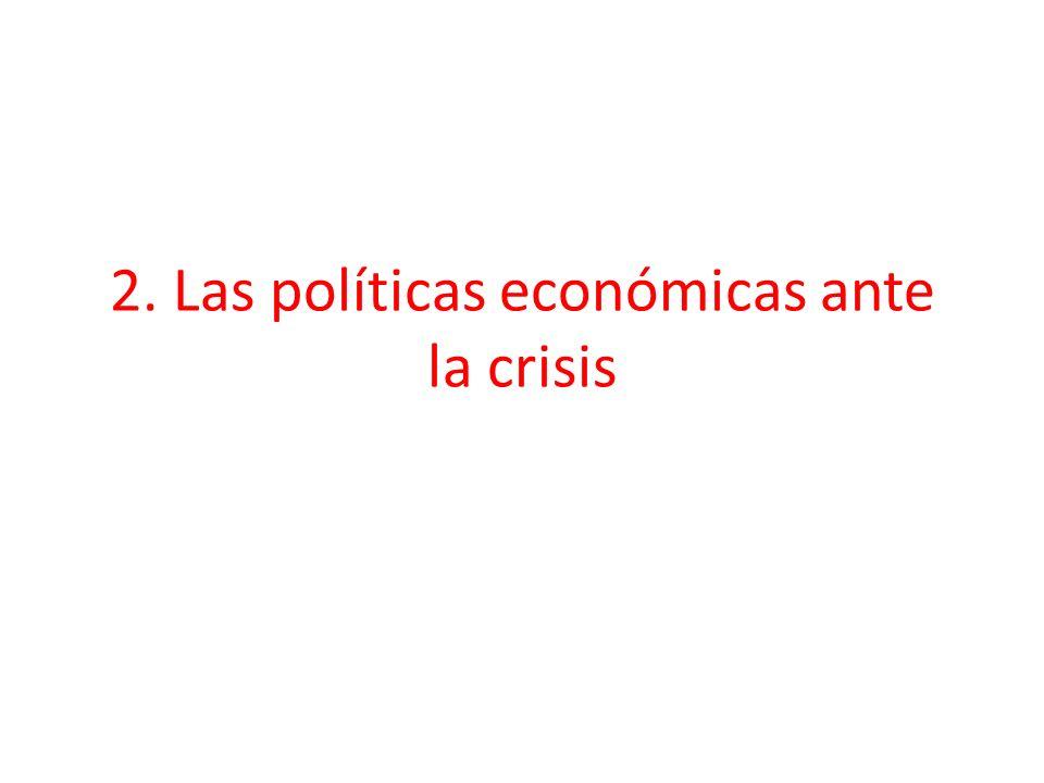 2. Las políticas económicas ante la crisis