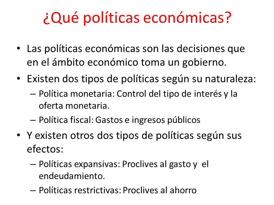 ¿Qué políticas económicas