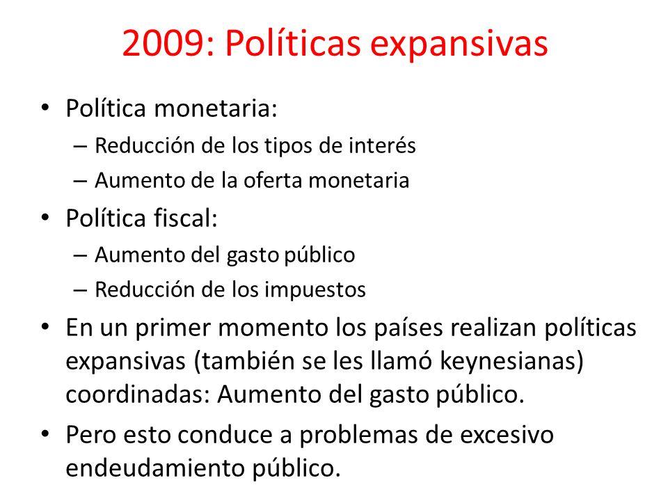 2009: Políticas expansivas