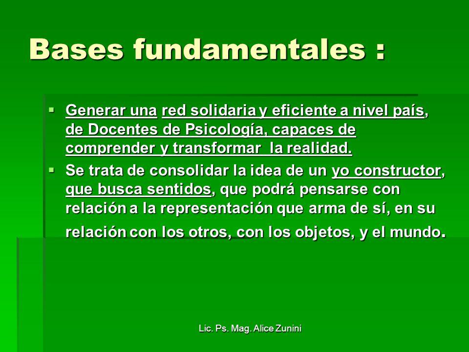 Bases fundamentales :